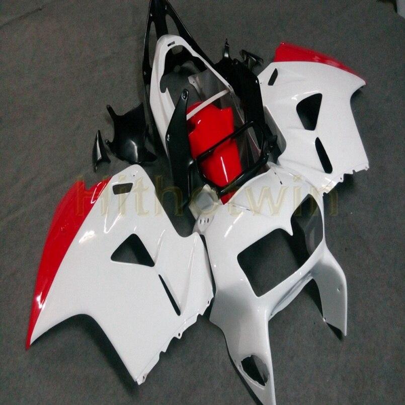 Carénage ABS moto personnalisé pour VFR800 1998 1999 2000 2001 panneaux moteur + Botls + rouge blanc