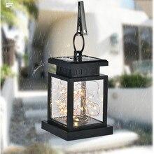 2020 The fashionest Waterproof Outdoor Solar  Hanging Light LED Yard Patio Garden Lamp Decors  LED Hanging Lantern