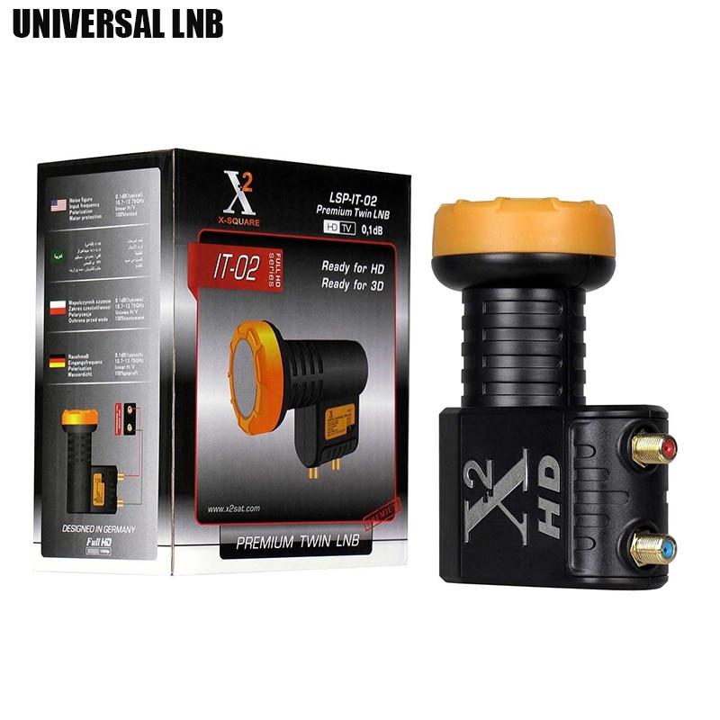 VIDBOX HD Digital Universal LNB para receptor de TV Satellie Twin LNB alta potencia Ku banda LNBF ruido figura 0.1dB doble LNB