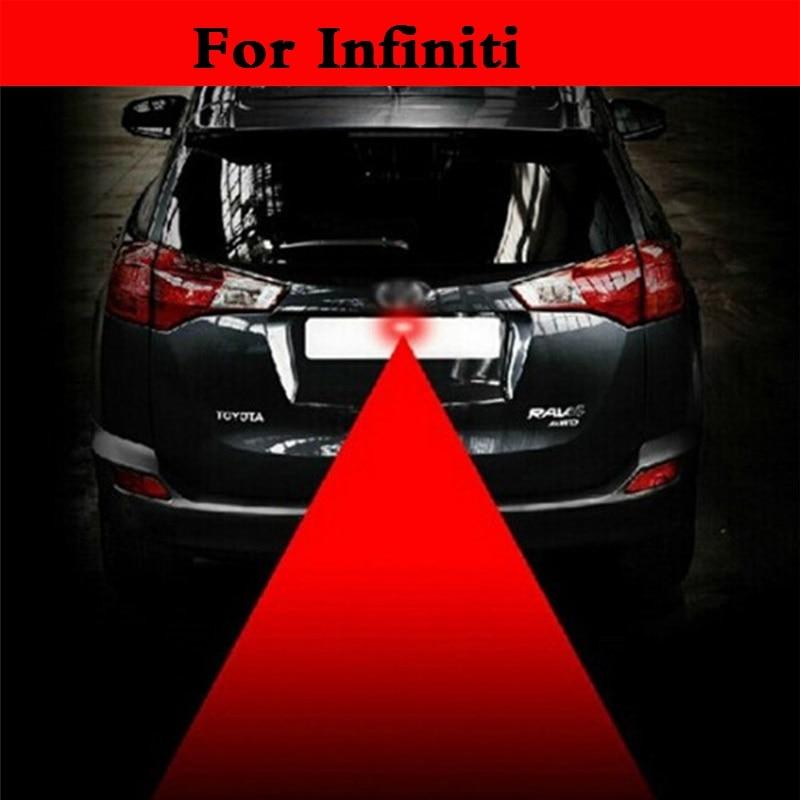 Luz de freno de coche de 12V anticolisión con láser trasero, luz de freno de estacionamiento para automóvil para Infiniti EX FX G JX M Q Q30 40 50 60 70 QX QX50 QX60 QX70 QX80