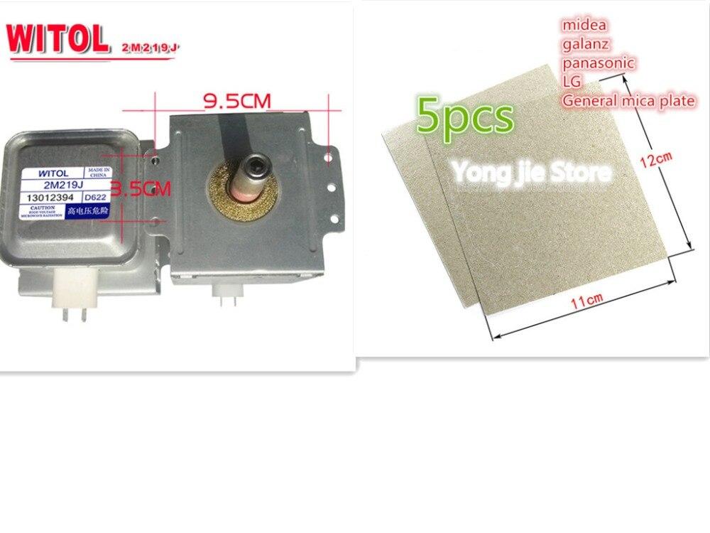 Véritable four à micro-ondes original magnétron pour midea WITOL 2M219J tube magnétique démonter 9 dans un nouveau + 5 * fours à micro-ondes mica