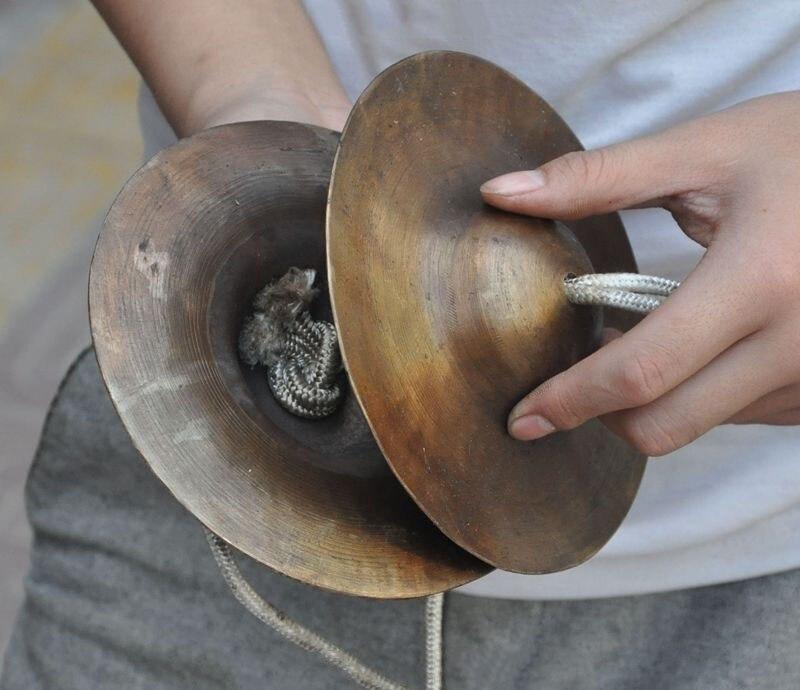 """6 """"recoger raro puro bronce chino percusiones clásicas platillos pequeños platillos"""