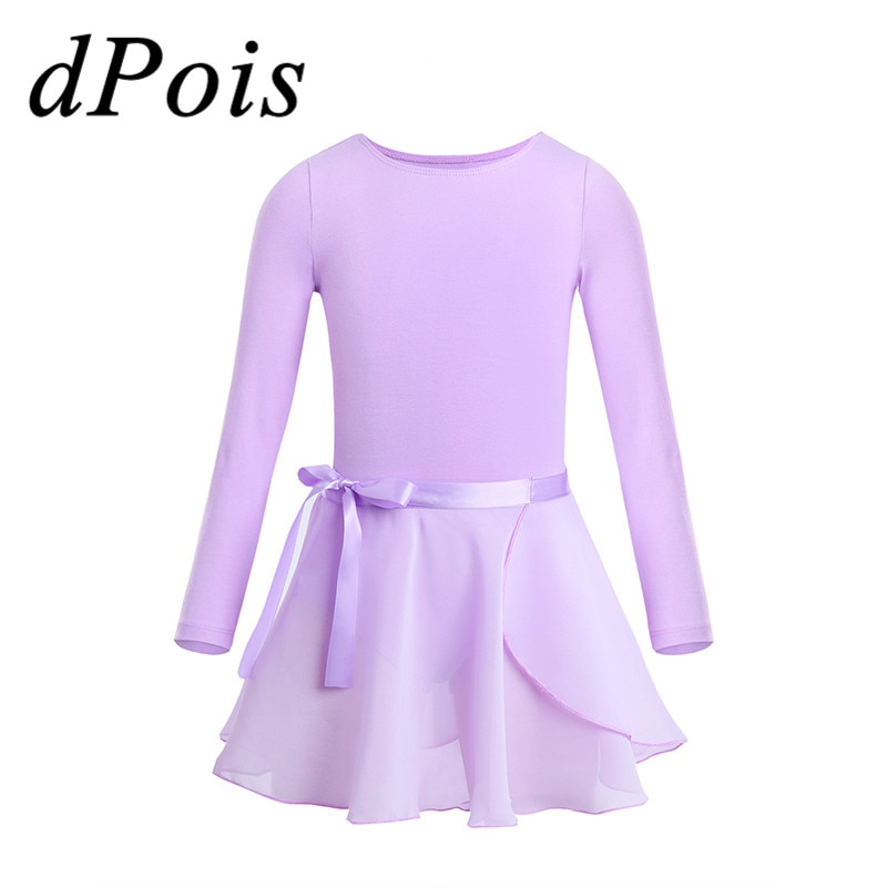 DPOIS niños niñas tutú vestido Bodysuit contemporáneo Ballet danza etapa traje bailarina Gimnasia Rítmica falda con leotardo