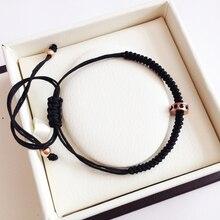 Anil Arjandas Bracelet macramé Bracelet Micro pavé de cristal Zircon perle armure macramé Bracelet hommes bijoux