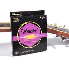 Cuerdas de guitarra eléctrica fosfuro bronce luz ET100 ET200 010-046 009-042 aleación de níquel 3 juegos