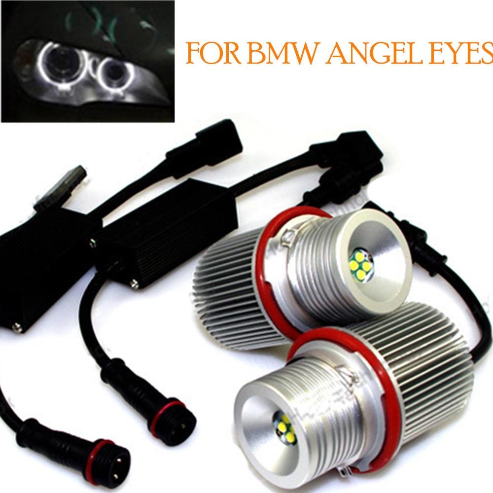 Bright White for BMW E39 E53 E64 1567 series  2x 40W Angel Eyes LED Marker free shipping