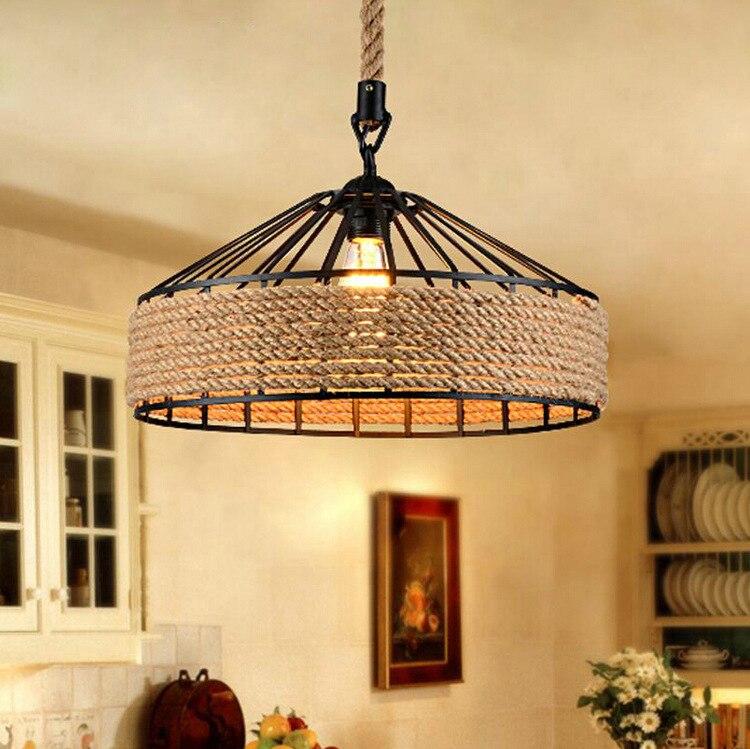 Lámpara Colgante con tapa Industrial para restaurante, cafetería, Bar, lámpara De Techo,...