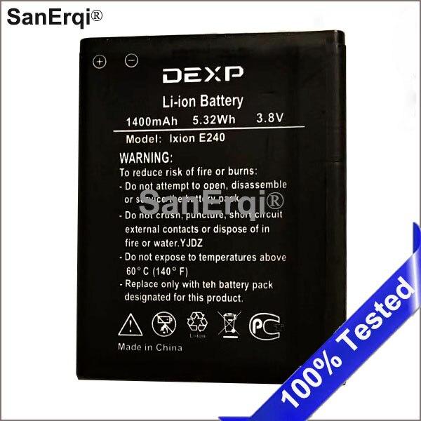 Batería de teléfono 1400 mAh E240 E 240 para Dexp Ixion E240 Strike 2 Batería de teléfono móvil