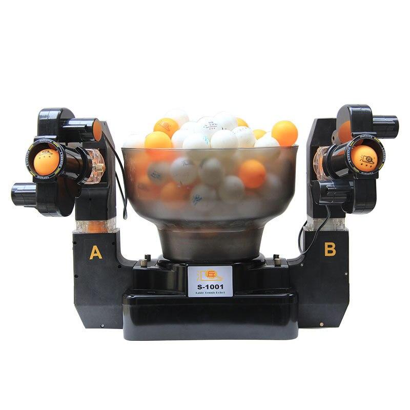 Tennis roboter doppel kopf automatische schießen Tischtennis Dienen Maschine üben maschine für anfänger geeignet für 40 + bälle