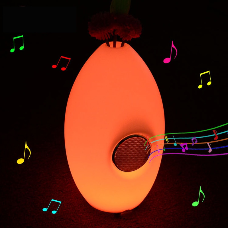 Rechargeable LED Night Light Vase bluetooth smart light RGB remote control table bar music restaurant home Indoor decortive lamp enlarge