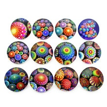10pcs/lot Seven Colour Stone Glass Snap Buttons Charms 18mm Print Buttons Fit DIY Snap Bracelets&Earrings Woman Jewelry