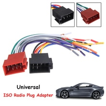 Universal coche estéreo hembra ISO adaptador de enchufe de Radio cableado Cable estéreo arnés