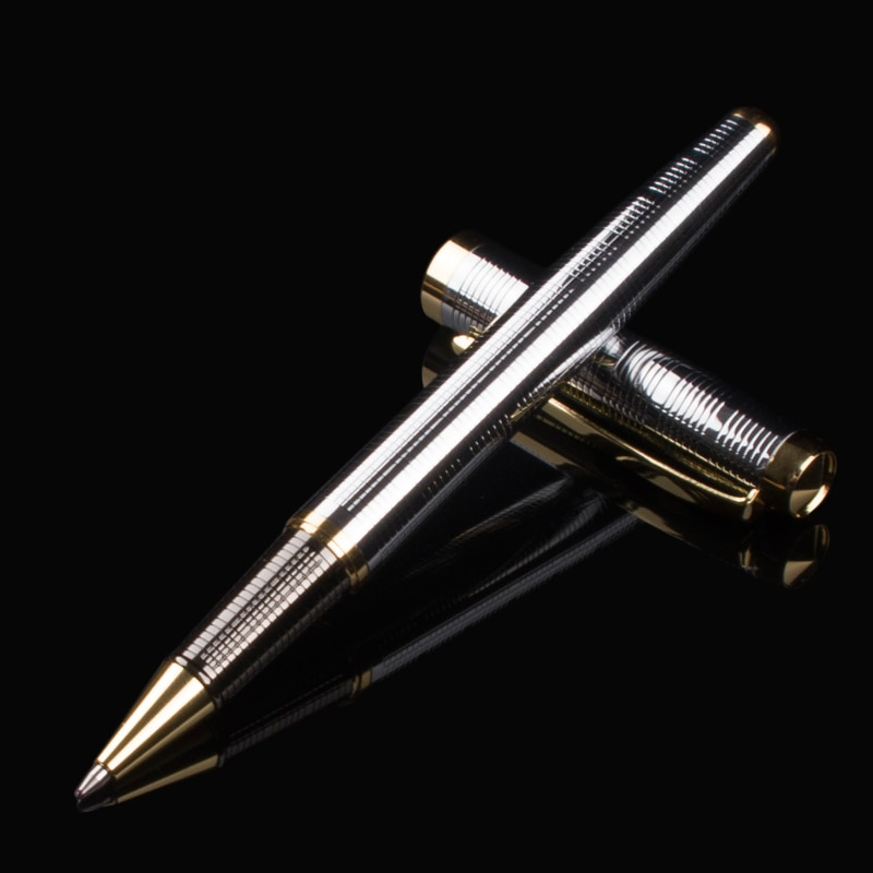Free shipping Fashion Pen Gift Black Roller ball Pen Signing pen Smooth writing black refill School & Office Supplies fuliwen perfect upscale silvery scales hewn fountain pen office writing gift pen free shipping