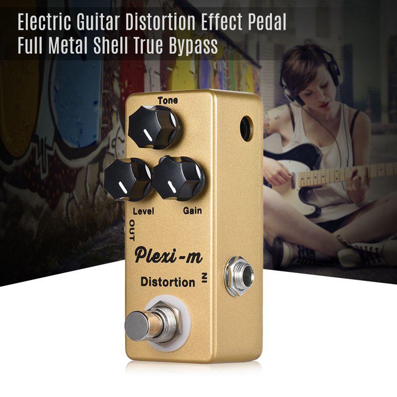 Mosky plexi-m guitarra elétrica efeito de distorção pedal peças de guitarra metal completo escudo verdadeiro bypass