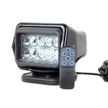 IP67 10-30V télécommande projecteur LED 7 pouces 50W projecteur LED travail jour lumière camion SUV bateau MARINE conduite lumière