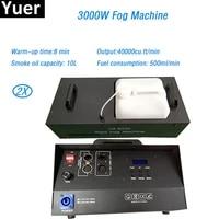 2pcslot remote control dmx control 3000w smoke machine stage fogger machine for led par light dj disco show stage equipment