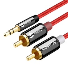 RCA 3.5mm jack Cable 2 RCA Male to 3.5 mm Male Audio Cable 1M 2M 3M Aux Cable for Edifer Home Theate