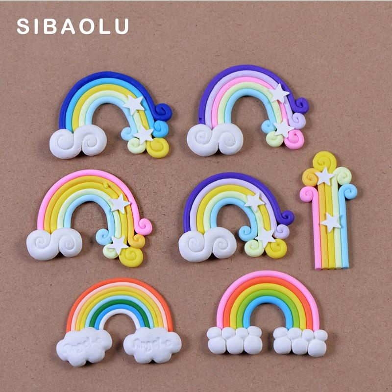 Figuras de arcoíris decorativas de minijardín de hadas, estatua de animales en miniatura, musgo, microadornos para paisajismo, artesanía de resina TNB016