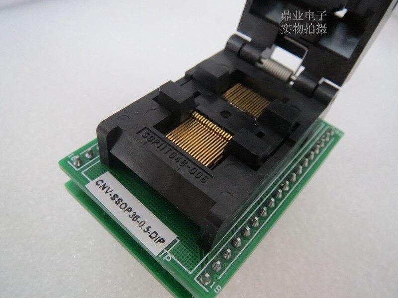 adaptador de assento 05mm dimensoes ssop36 dip queima ic teste de assento bancada