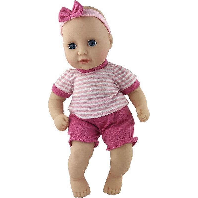 1 par de monos de ropa de muñeca aptos para muñecas de 36cm/14 pulgadas, el mejor regalo de cumpleaños para niños (solo se vende ropa)