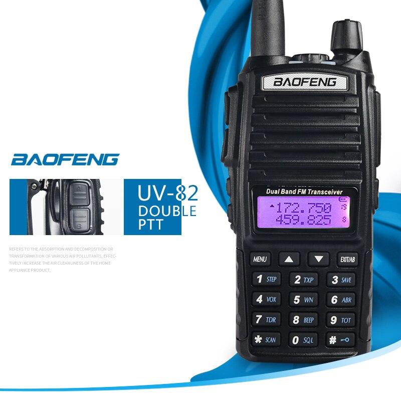 Baofeng UV-82 UV82 UV 82 Portable talkie-walkie bidirectionnel CB jambon VHF UHF Radio Station émetteur-récepteur Boafeng Woki Toki communicateur