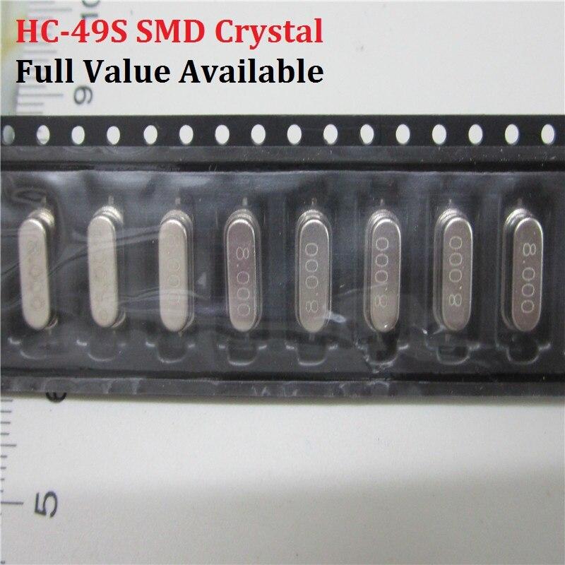 Oscilador de cristal pasivo SMD 3,579545/4 6/7. 3728/8/10/12/16/18 432/20/22 1184/24/25/26/27/27 12/11 0592/12/13 56/14 7456/M/MHZ