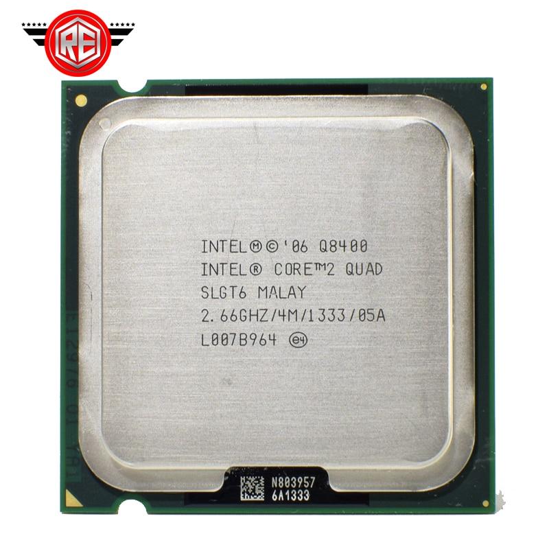 Processeur INTEL CORE 2 QUAD Q8400 2.66GHz 4 mo Cache FSB 1333 ordinateur de bureau LGA775 CPU