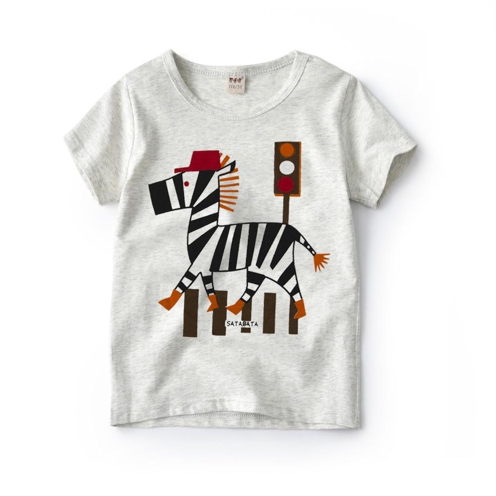 Детская футболка для мальчиков и девочек, Белая Летняя футболка с коротким рукавом, футболка с рисунком динозавра для 4, 5, 6, 8, 10 лет, 2019