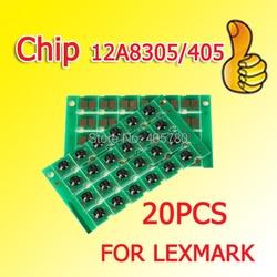 20pcs chip 12A8305/405 chip de tambor compatível para Lexmark E230/E232/E238/E240/E330 /E332/E332n/E340/E342/E342n ++