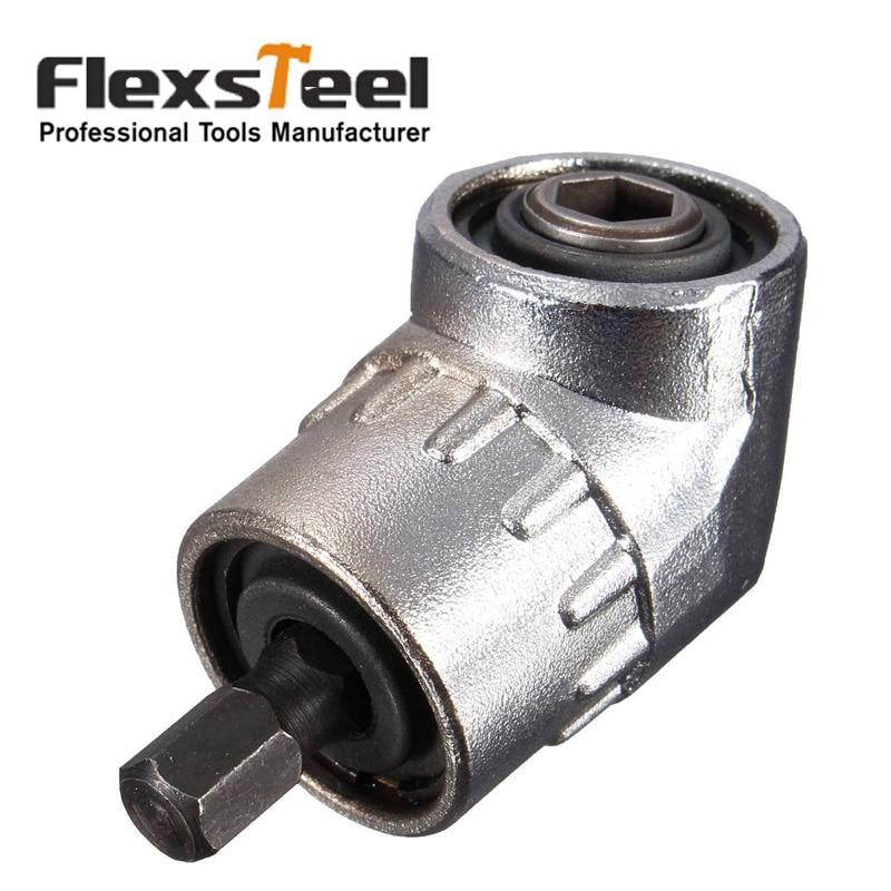 """Flexsteel 105 grados 1/4 """"6mm giro ajustable Hex Bit ángulo extensión Driver destornillador magnético adaptador del soporte del zócalo"""