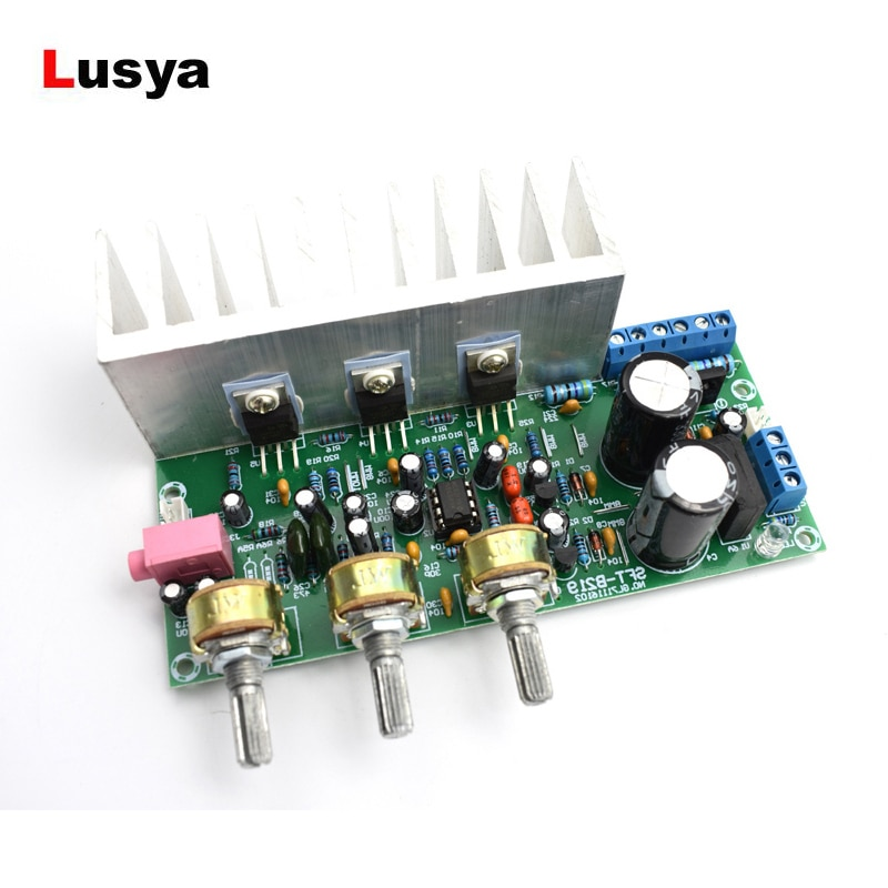 Placa amplificadora de potencia de Subwoofer de 60W TDA2050 + placa amplificadora TDA2030 con disipador de calor 18W + 18W + 32W D5-006