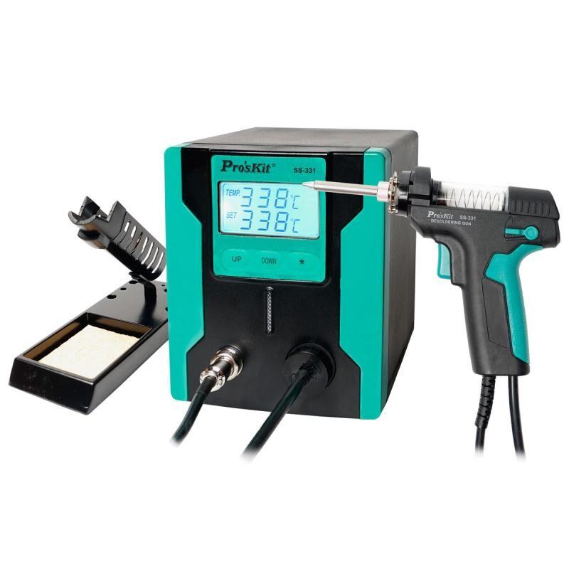Pro'sKit SS-331H ESD LCD الرقمية الكهربائية ديسولديرينغ مضخة بغا ديسولديرينغ شفط امتصاص بندقية الكهربائية فراغ لحام مصاصة بندقية