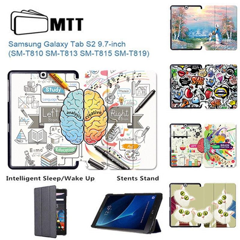 MTT para Samsung Galaxy S2 9,7 PU cuero funda abatible tableta magnética funda para Samsung Tab S2 9,7 pulgadas SM-T810 T813 T815 T819