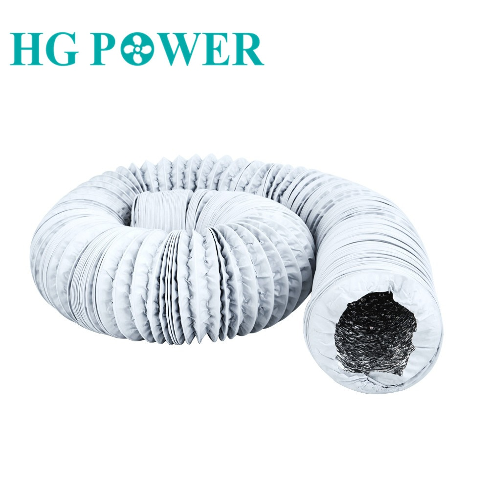 4~8 inch 10m Aluminium Flexible Fan Ducting Exhaust Pipe for Extractor Air Conditioner Vent Hose Duct Outlet Household