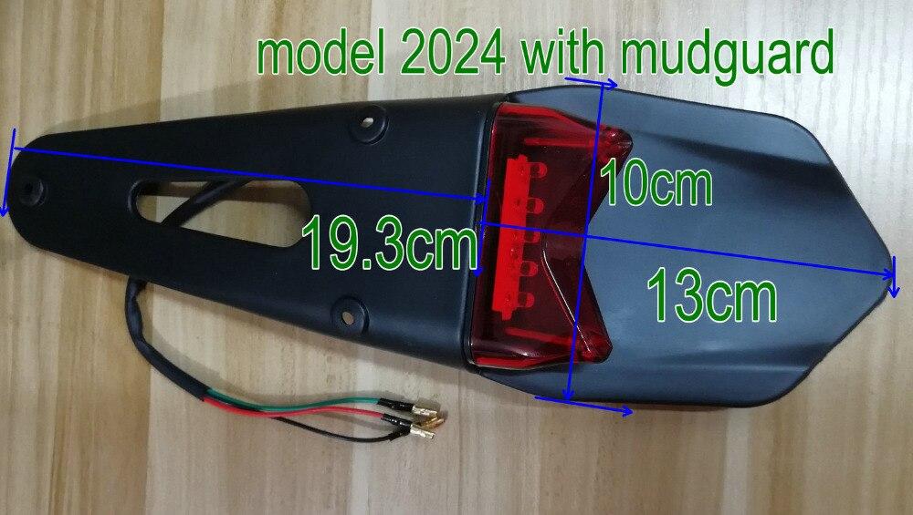 Placa de matrícula de scooter eléctrico Luz de bicicleta running scooter ligero guardabarros + luz trasera LED MTB ATV luz de freno LED integrada