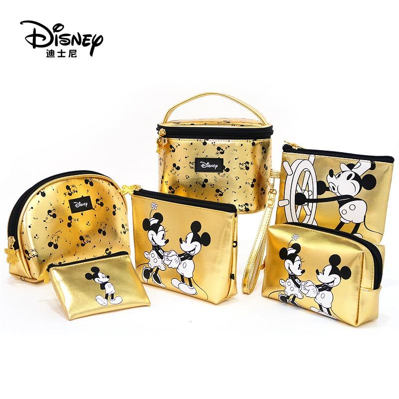 Disney peluche mignon PU Mickey souris sac Minnie mode maquillage multi-fonction stockage sac cosmétique porte-monnaie jouets pour enfants