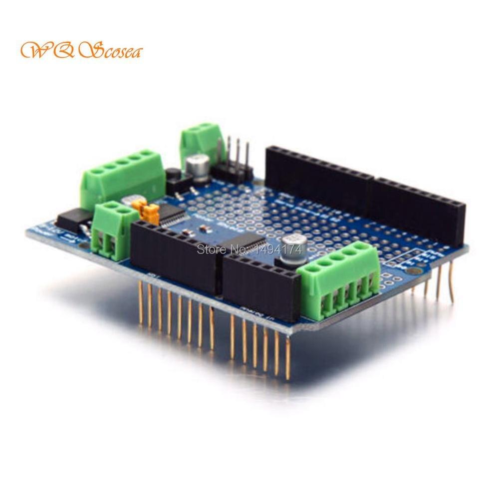 WQScosea Q8S-370 I2C TB6612 Motor PCA9685 Stepper Servo PWM Driver Shield V2 Motor Drive Controller Board For Arduino Robot