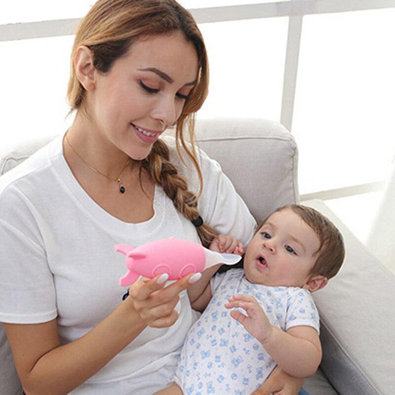 Newborn Baby Feeding Bottle Toddler Silicone Squeeze Feeding Spoon Milk Cereal Bottle Baby Training Feeder Food Supplement