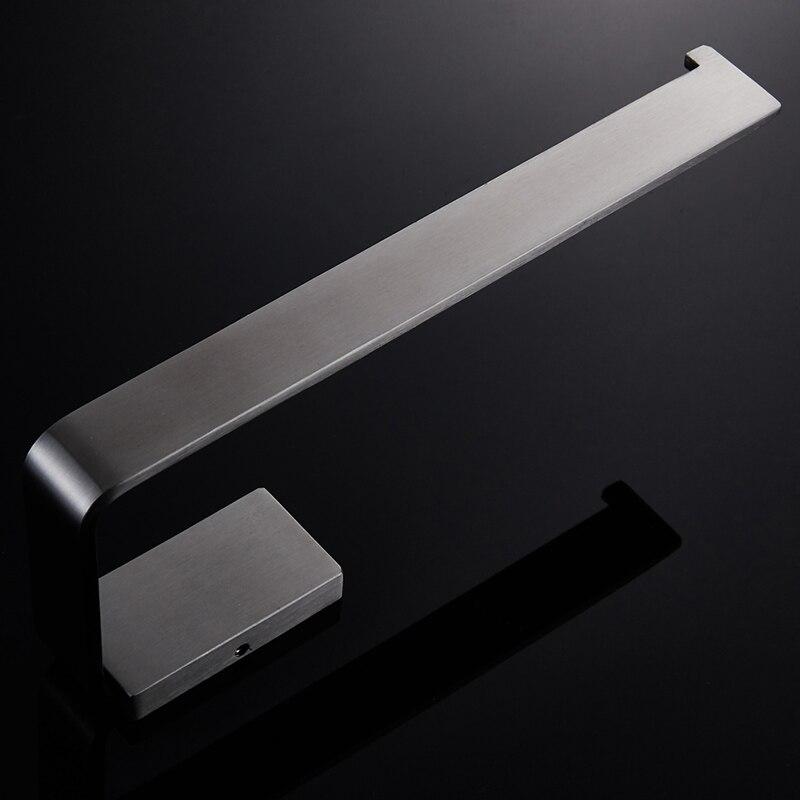 Купить с кэшбэком WEYUU Bathroom Accessories  Towel Ring 304Stainless Steel Wall-mounted  Towel Rack Bar Square Chassis Brushed Nickel