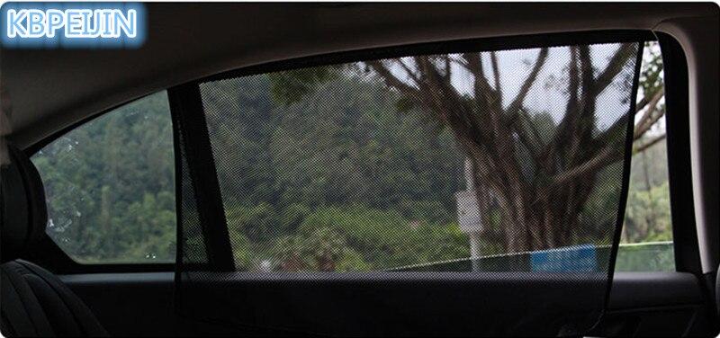 4 Uds Coche magnético protector solar ventana lateral parasol pegatina de cortina para Jaguar xf xe x-tipo xj s-tipo f-pace XFR Accesorios