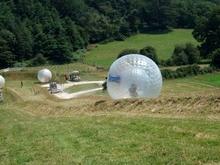 Livraison gratuite boule roulante 3 m sur herbe boule pare-chocs gonflable/boule Zorb/balles gonflables de Hamster humain