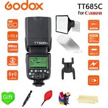 Godox TT685C Speedlite High-Speed Sync External TTL + 15*17cm softbox + Color filters for For Canon Flash 1100D 1000D 7D 6D
