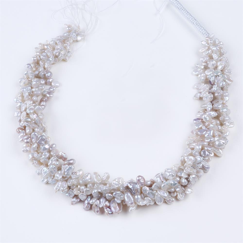 DIY AA venta al por mayor Color blanco agua dulce Keshi perla 4-5mm cuentas sueltas 16 para la fabricación de joyas