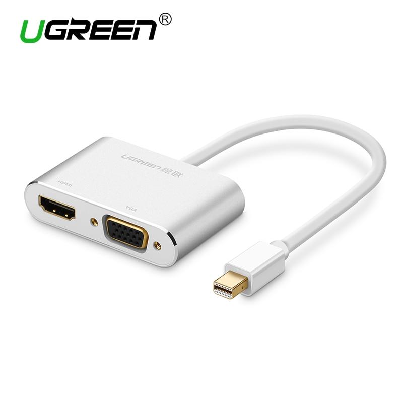 Кабель-адаптер Ugreen 2 в 1 Thunderbolt Mini Displayport DP-HDMI VGA 4K 1080P Mini DP Для Macbook Air Microsurface