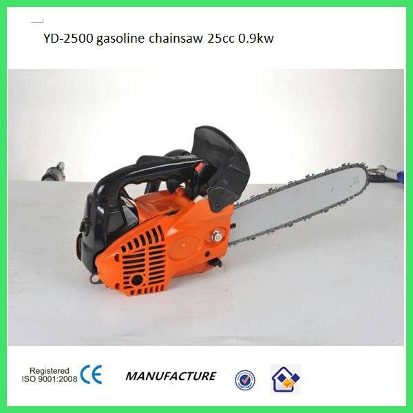 Sierra de cadena 2500, piezas de sierra de cadena, sierra de cadena de 25cc, motor pequeño de arranque fácil con alta calidad