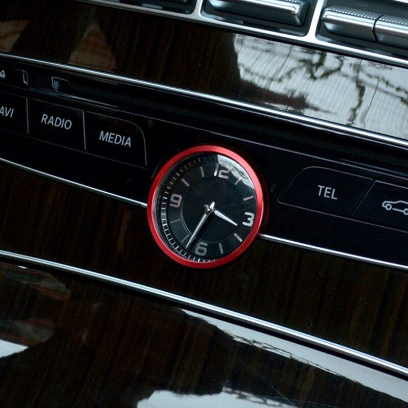 Reloj de Control medio rojo para coche, anillo decorativo con cubierta Interior para Mercedes Benz C E Class W205 W213 2015-2018