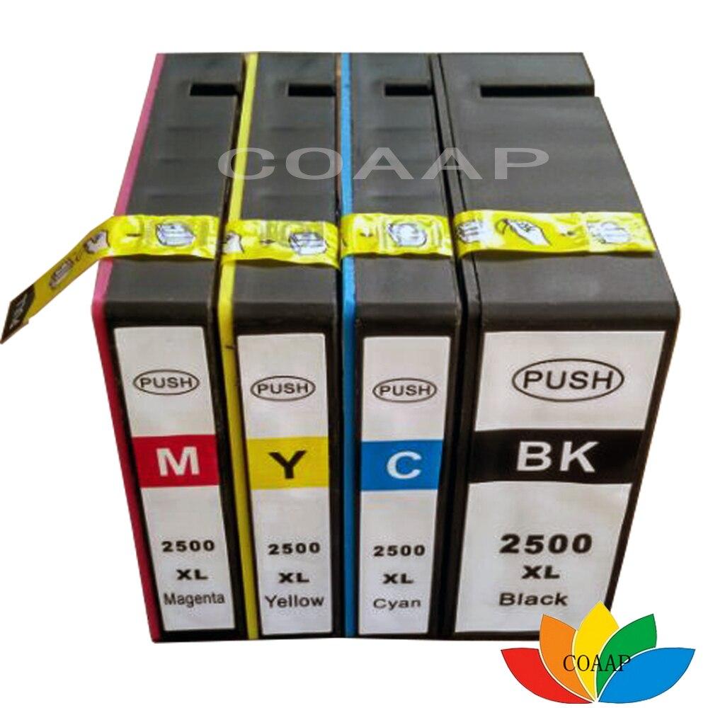 خرطوشة حبر 4x pgi2500 2500xl لطابعة كانون, pgi 2500 MAXIFY iB 4050 MB 5050 5350