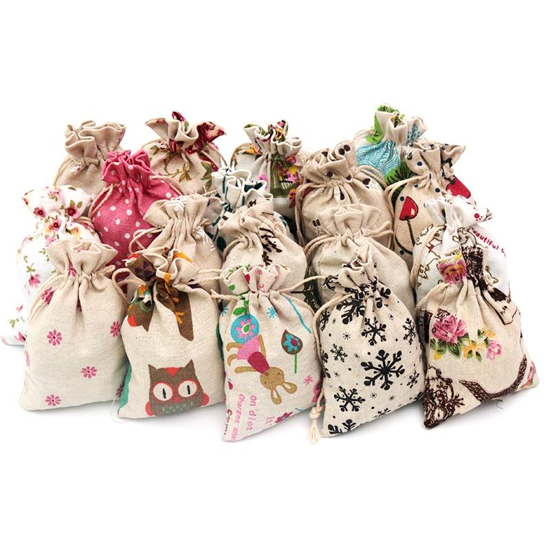 AliExpress - 5pcs/lot Linen Cotton Bag 10×14 13×18 15x20cm Muslin Cosmetics Gifts Jewelry Packaging Bags Cute Drawstring Gift Bag & Pouches