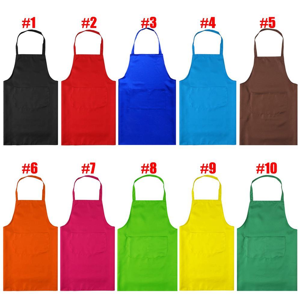 Купить с кэшбэком black color 63x70cm polyester classic design work apron kitchen apron with pocket couples apron