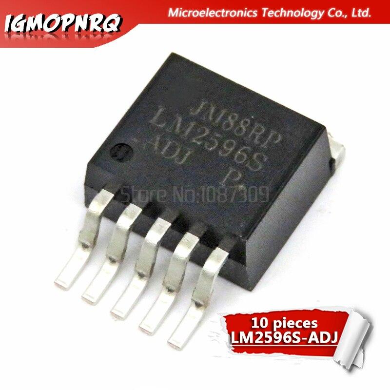 Reguladores de voltaje 10 Uds LM2596S-ADJ LM2596 LM2596S-reguladores de conmutación 150 KHZ 3A EP-DOWN VLTG REG TO-263-5